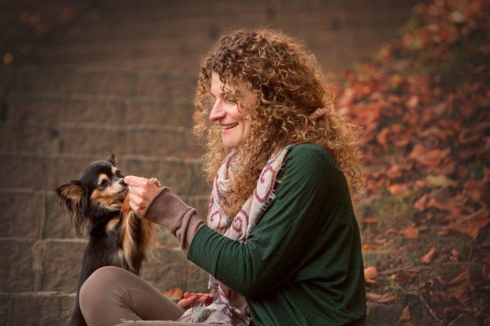 Vera mit Hund
